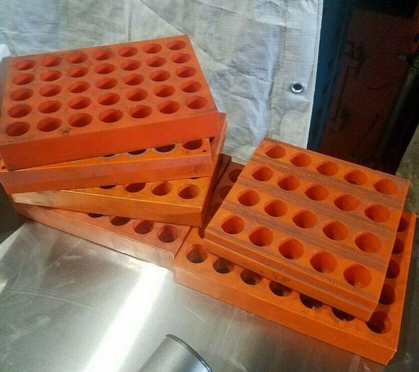 """Used 6 Heavy Duty Tool Holders Trays for CNC Collets 1"""" diameter Holes"""
