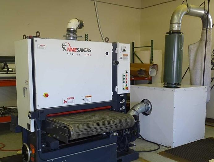 "Used 2004 Timesaver 37"" 137-1HPM Belt Grinding/Graining Machine"