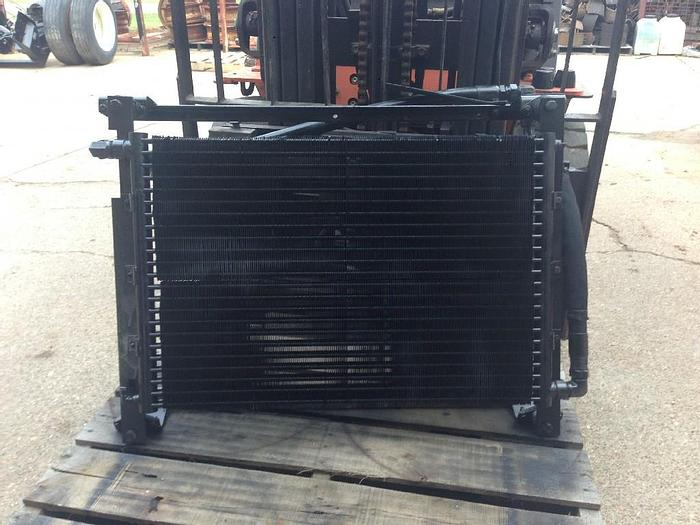 """Used GOOD USED HYDRAULIC OIL COOLER, LENGTH: 9"""", WIDTH: 38"""", HEIGHT: 34"""", SIZE 16 HOSE AND FITTINGS"""