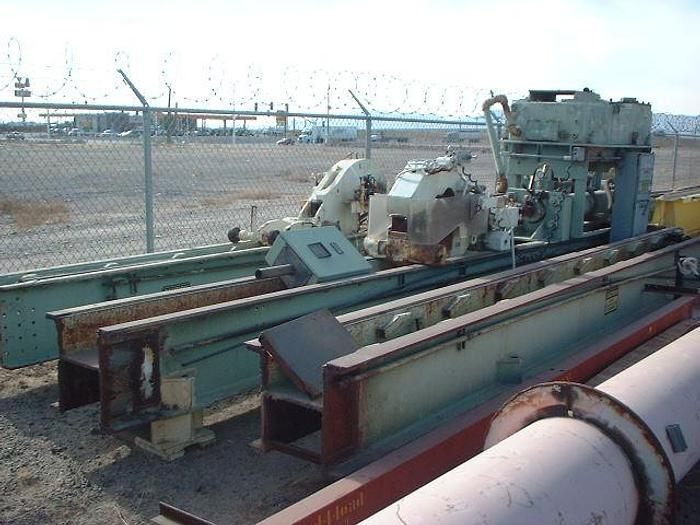 "Used 45 Ton Wean-United Extrusion Stretcher; 60"" stroke; 51' of track"