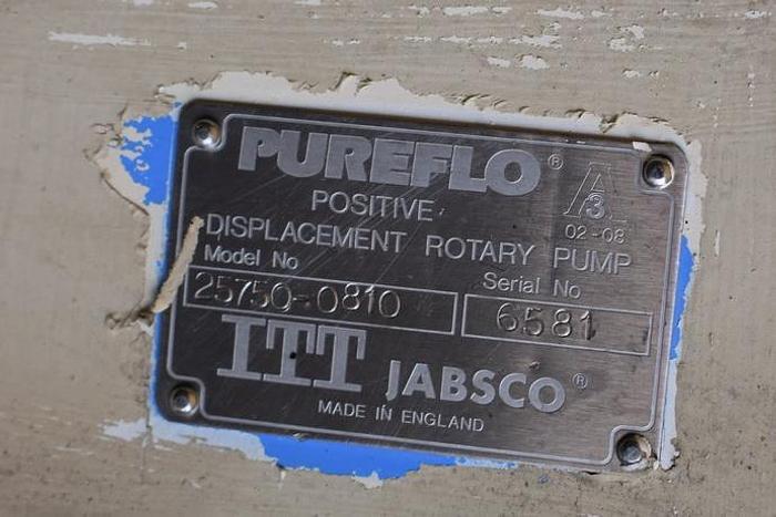 USED JABSCO ROTARY LOBE PUMP, JACKETED, STAINLESS STEEL