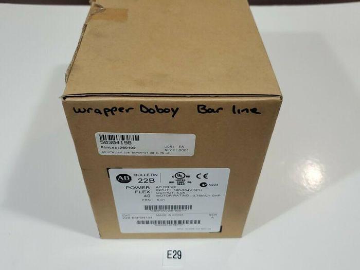 *NEW IN BOX* ALLEN BRADLEY 22B-B5P0N104 POWER FLEX 40 AC MOTOR DRIVE + WARRANTY!