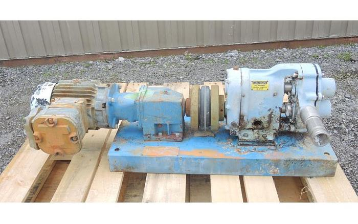 USED WAUKESHA ROTARY LOBE PUMP, MODEL 25, STAINLESS STEEL