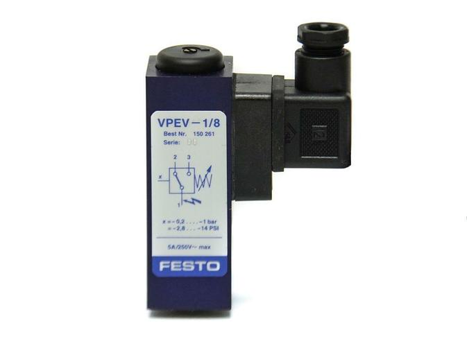 Festo VPEV-1/8 Vacuum Switch 150261 NEW (5158)