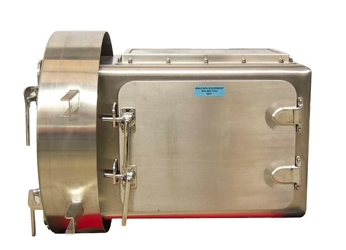 Used La Calhene Laboratory GloveBox Transfer Station w/ Camfil 32040100 Filter 8947R