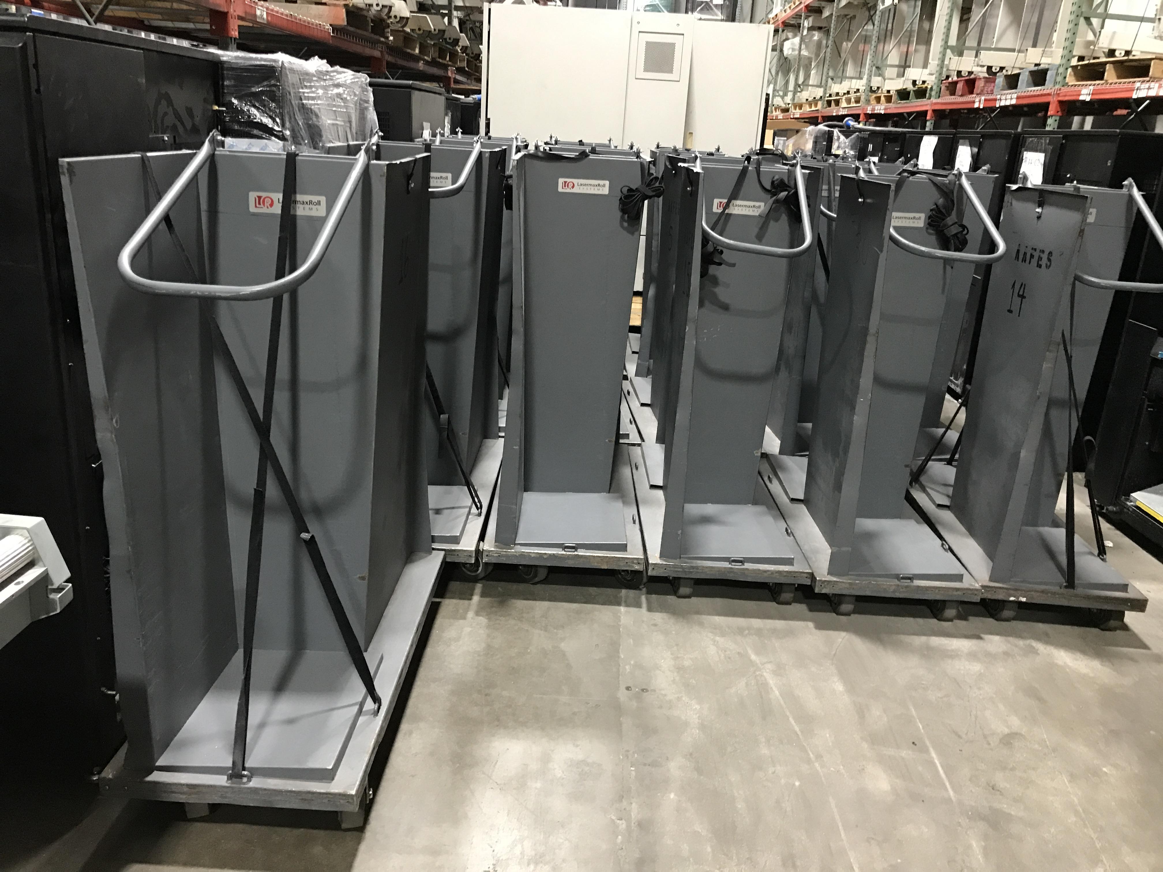 "Used Tecnau / Lasermax Double Sided Paper Carts - Roll to Fold - 18"" x 14"" Tray Size Tecnau"
