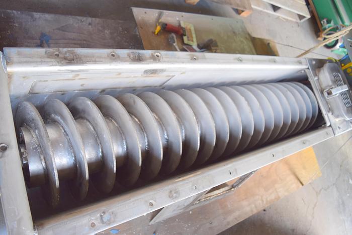"Used Stainless steel screw auger conveyor, 12"" stainless screw auger, 6ft stainless screw conveyor, 12inch stainless screw feeder, stainless steel screw feeder,"