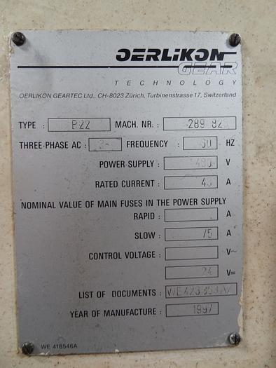 OERLIKON B22 CNC BLADE GRINDER