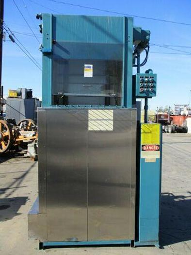 Used BARON BLAKESLEE MODEL SCS-425 STAINLESS SOLVENT RECYCLING SYSTEM W/ ELEVATOR