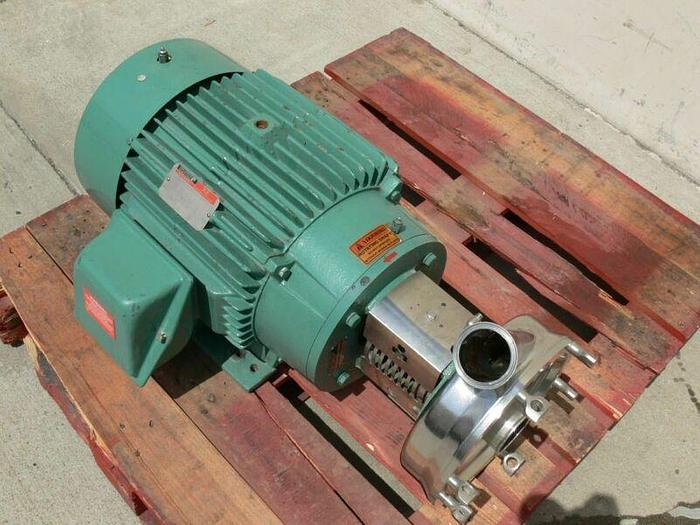 Used Tri-Clover CLW3285MEGK4EP Sanitary Centrifugal Pump w/ a 30 HP Reliance Motor