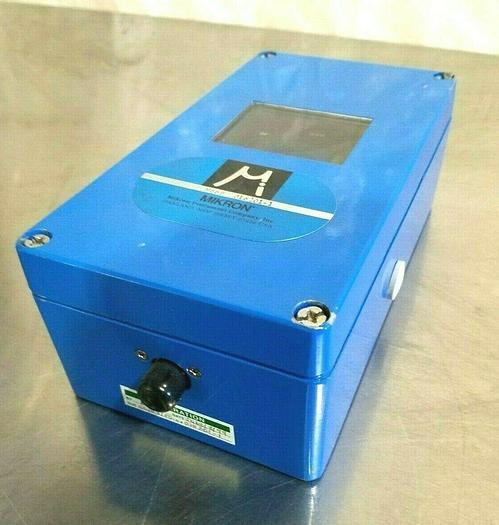 Used Mikron Advanced Fiber Optic Infrared Pyrometer Sensor M668 with thermocouple