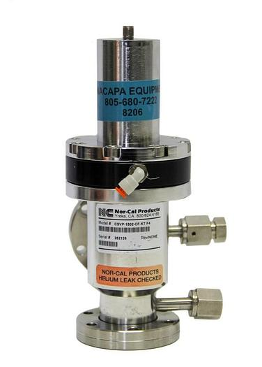 Used Nor-Cal Products CSVP-1502-CF-KT-F4 Pneumatic Right Angle Valve (8206)W