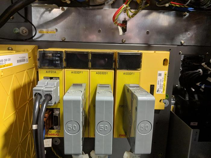 2012 FANUC M710iC/50 6 AXIS ROBOT WITH IR VISION AND R30iA CONTROLLER.