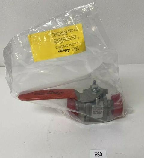 """NEW Flowserve WK7466TTC Stainless Steel 1"""" NPT Ball Valve Fast Shipping"""