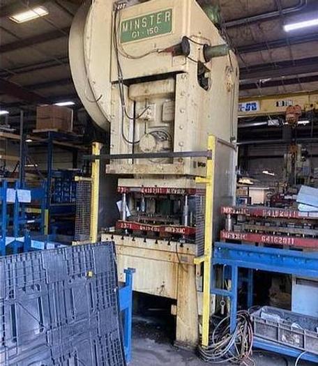 Used 150 ton Minster OBI Mechanical Press