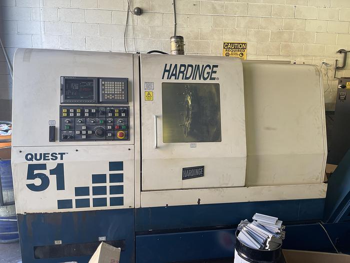 Used HARDINGE QUEST 8/51 CNC LATHE