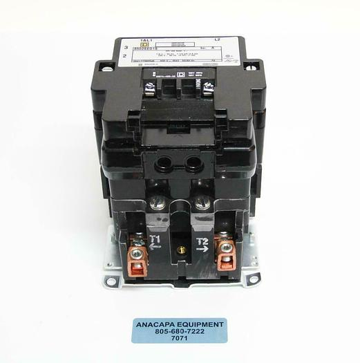 Used Square D 8502 SEO1 S Full Voltage AC Magnetic Contactor Type S + Auxiliary (7071