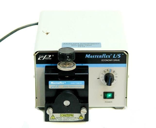 Used Cole Parmer 7554-80 Masterflex L/S Economy Drive w/ 77390-00 Pump Head (7113) R