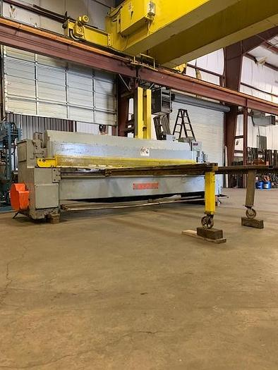 "Used 1967 1/4"" x 12' Wysong Mechanical Power Squaring Shear"