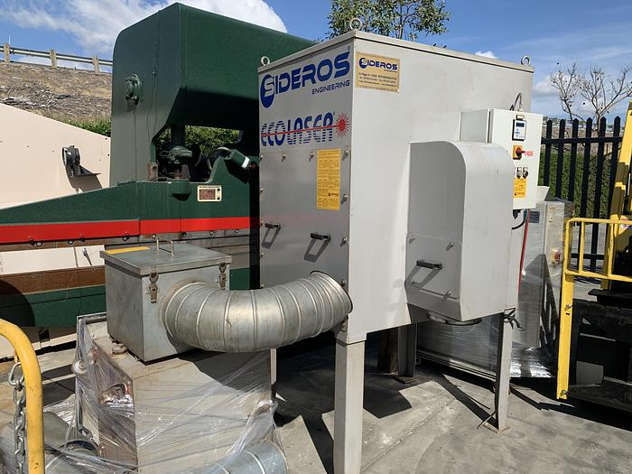 Used SIDEROS ECOLASER ECO4EX DUST COLLECTOR FOR CNC LASER PLASMA CUTTING