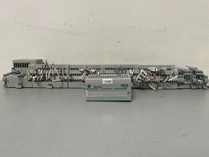 Used Allen-Bradley 1794-ASB Flex I/O Rio Adaptor w/ 1 Allen-Bradley 1794-IB16 Modules