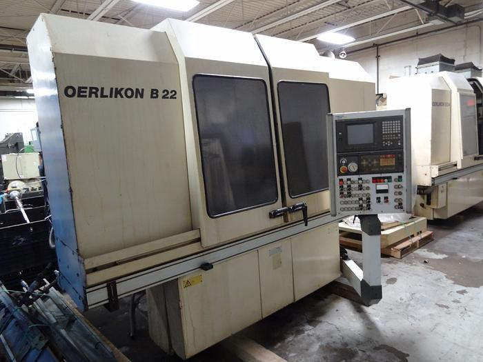 Used OERLIKON B22 CNC BLADE GRINDER WITH FANUC 160-M CONTROLS