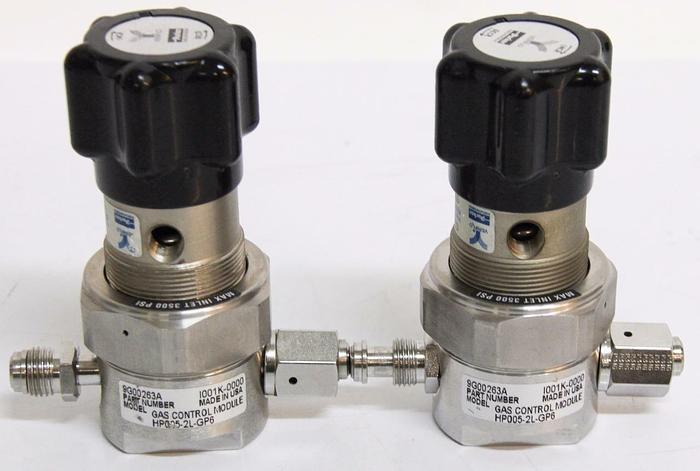 Used Parker Veriflo 2 Port Regulator  3500PSI C3AJ CGA 316 Male & Female x2 (4426)