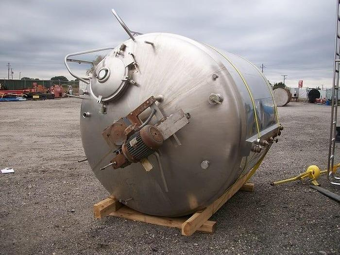Used 1,500 GALLON CHERRY BURRELL JACKETED PROCESSOR – S/S (#9218)