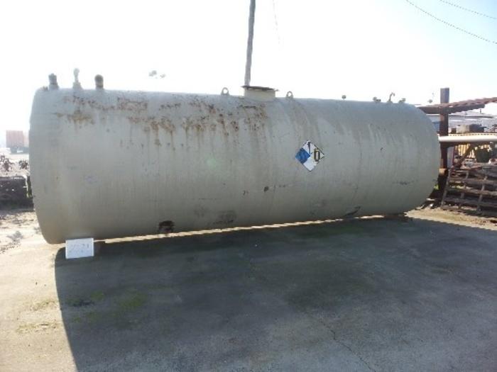 N.J. McCutchen 8000 Gallon Mild Steel Horizontal Tank #2371