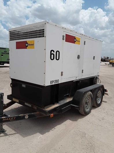 Used 60Kw Perkins N60 NORAM  mobile Diesel Generator