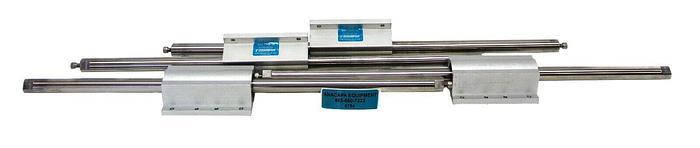 "Used Thomson Linear Rail, SSUTWN12 Super Smart Pillow Block W/22"" Rods Lot of 4 6754W"