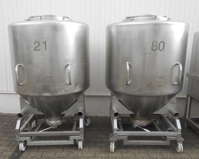 Used X 14410 D - Mixing Vessel 1200 L BOHLE MCG 1200