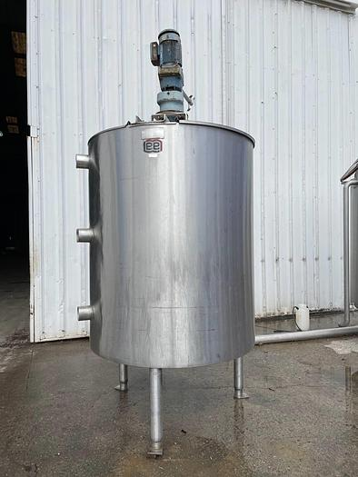 Used 500 GALLON LEE PROCESSOR TANK – S/S – JACKETED (#9795)