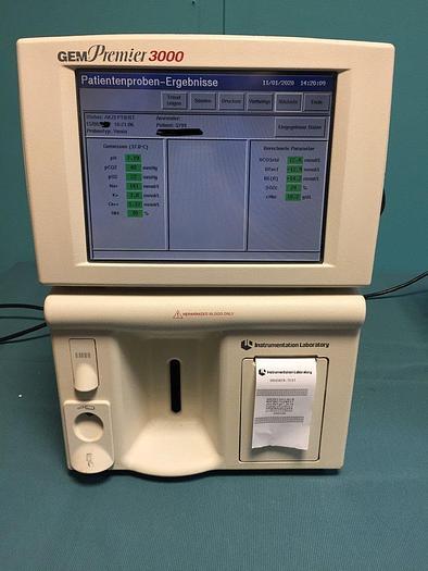 Gebraucht Instrumentation Laboratory Blutgas und Elektrolytanalysator GEM 3000 Model 5700