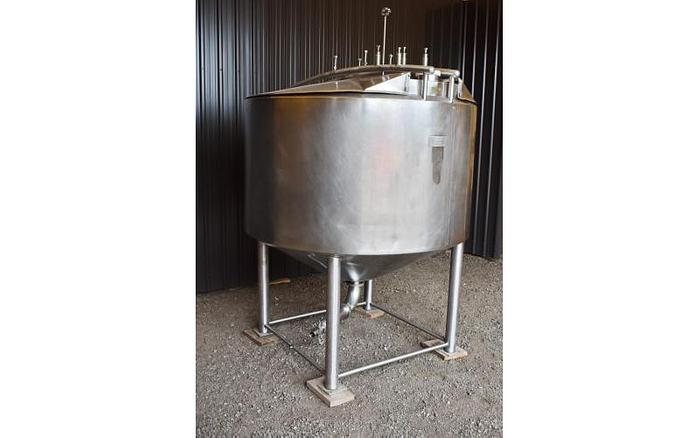 USED 700 GALLON JACKETED, TANK, STAINLESS STEEL