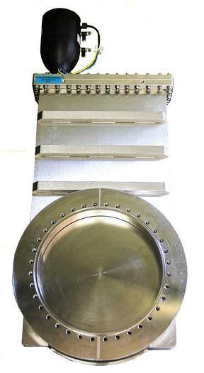 """Used HVA High Vacuum Apparatus 11222-1209R-003 12"""" Gate Valve 11000 Series (6776) W"""