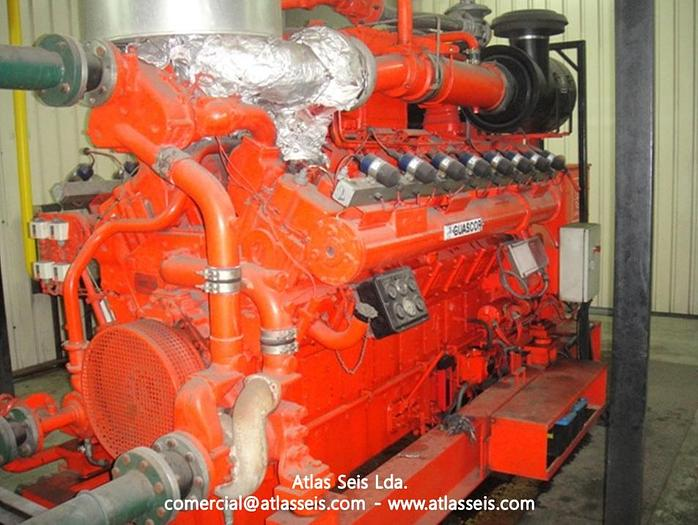 2 x 633 kW Gas Power Plant Guascor FGLD 480
