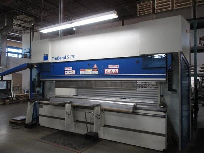 """187 TON X 13'11"""", 2007 TRUMPF TRUBEND 5170S, CNC PRESS BRAKE"""
