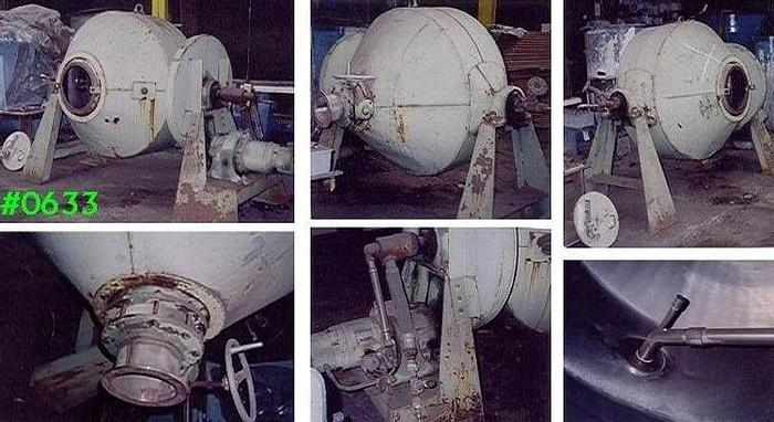 Used 30 CU. FT. PAUL ABBE DOUBLE CONE ROTARY VACUUM DRYER S/S