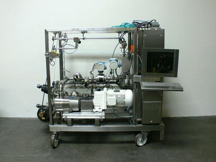 Used GE Healthcare Pump Skid w/ 15HP Ultima LU640 Rotary Lobe Pump & Mass Flow Meters