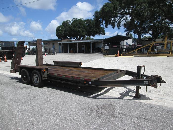 Used 2002 Belshe 18' Equipment Trailer