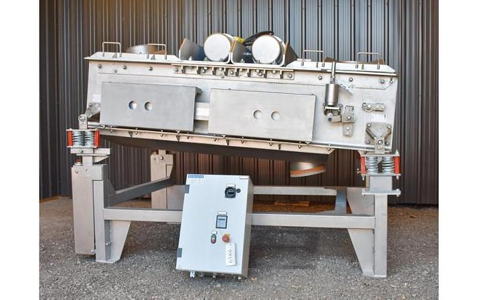 "USED VIRTO CUCCOLINI RECTANGULAR SCREEN, 40"" X 84"", SINGLE DECK, STAINLESS STEEL, VARIABLE SPEED"