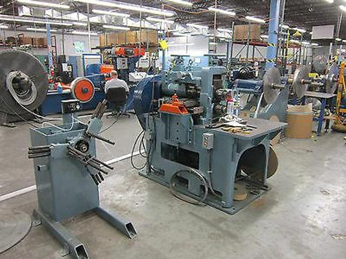 Used Coil Slitter Ruesch 145 Includes new takeup line tons of knives slit metal stock