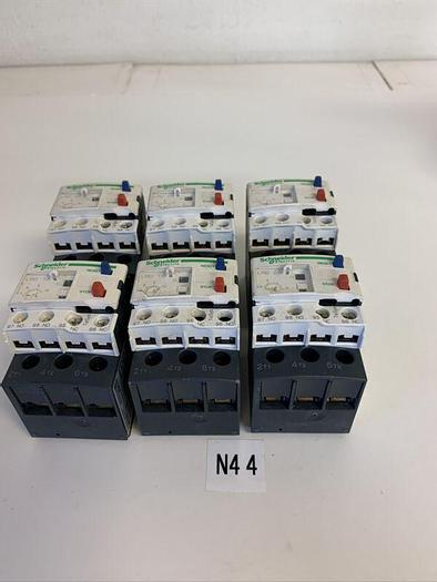 Used TELEMECANIQUE LRD14 OVERLOAD RELAY (LOT OF 5)& LRD08(LOT OF 1) FAST SHIPPING!