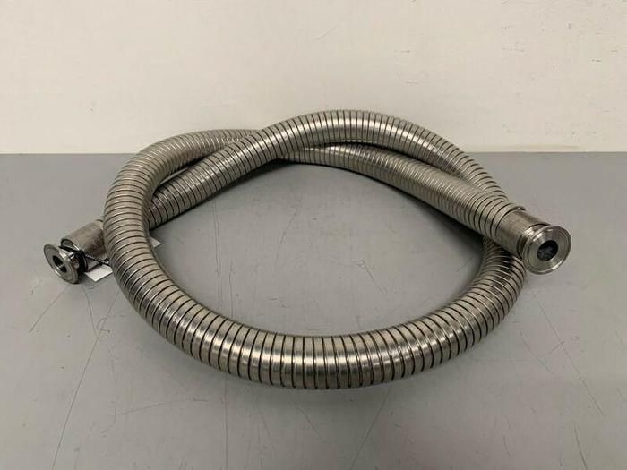 "Used Williams-Carver 83"" SS Reinforced Flexible Silicon Hose w/ 1"" Sanitary Fittings"