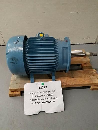 New Baldor Marine Duty 7.5 HP 3510 RPM Electric Motor Stainless Steel