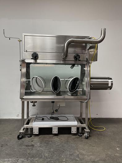Used La Calhène Double Sided Glove Vacuum Solid Wall Isolation chamber w/ Water Bath