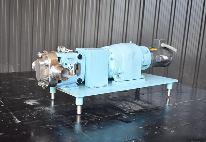 Used USED SPX ROTARY LOBE PUMP, MODEL 18-U1, 316L STAINLESS STEEL