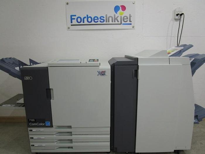 Used Riso ComColor 7150 X1 Full Color Inkjet Printer with Booklet Maker Finisher