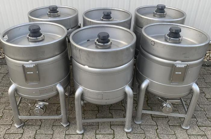 Used X14870D - Drums 100 Litre Stainless Steel EUROCONT LB 100